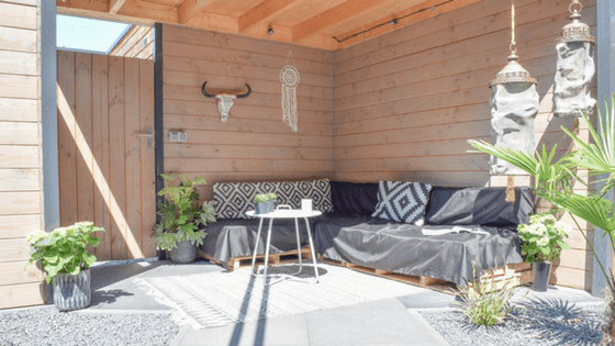 loungehoek in de tuin - InteriorTwin