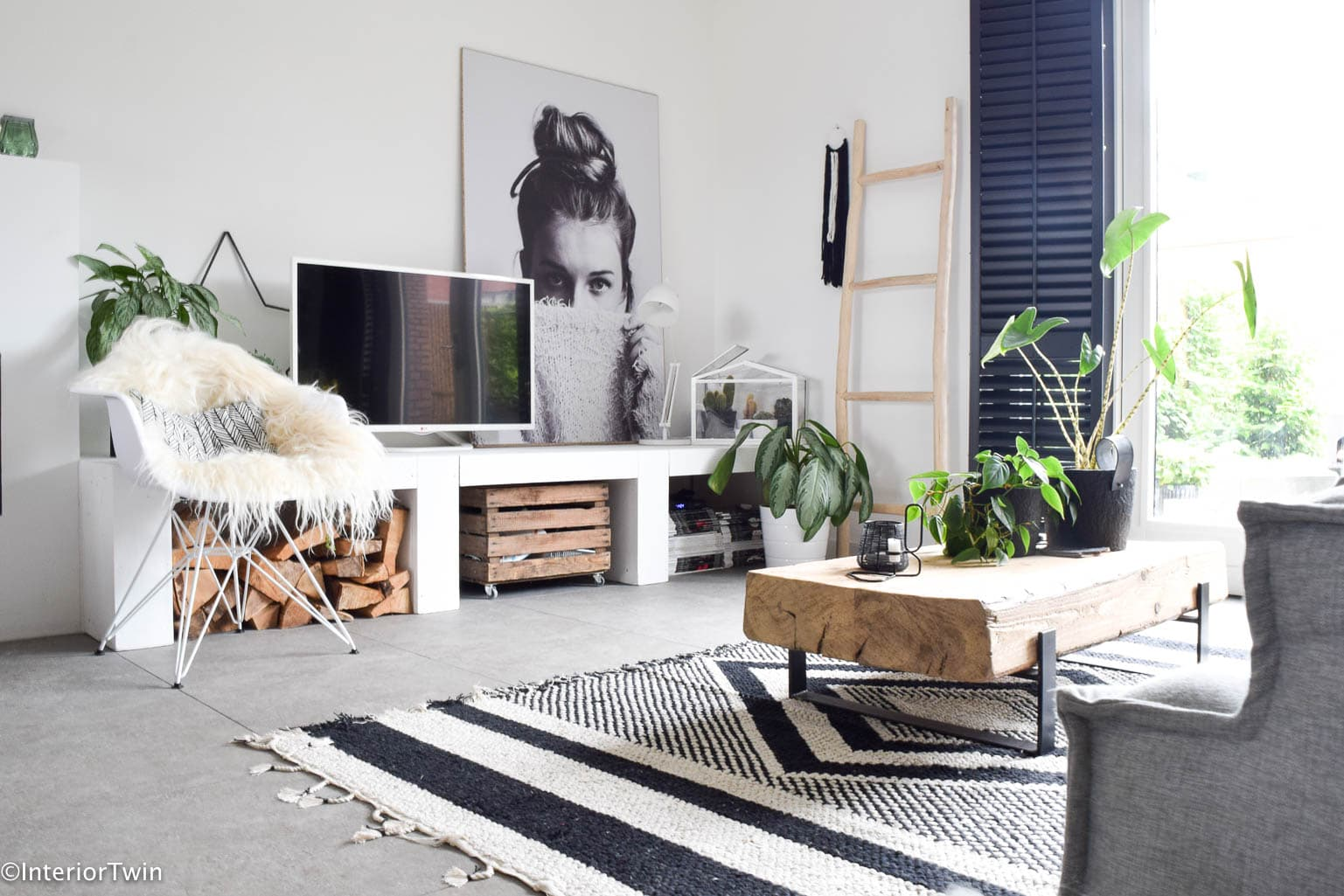 houten ladder in huis - InteriorTwin
