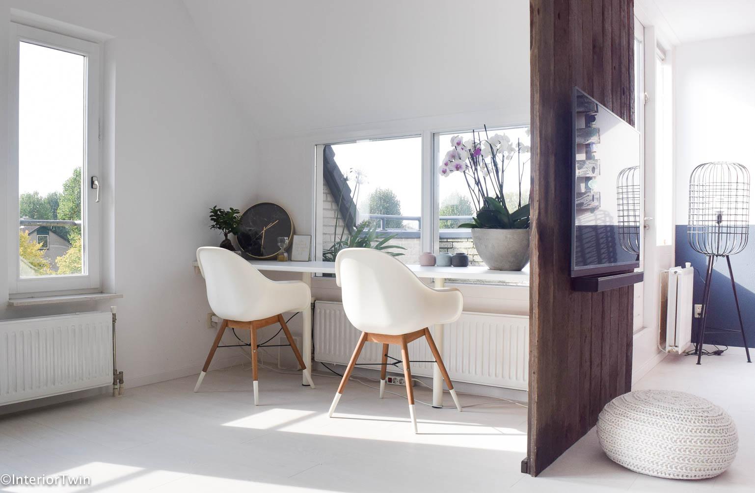 werkplek in de woonkamer - InteriorTwin