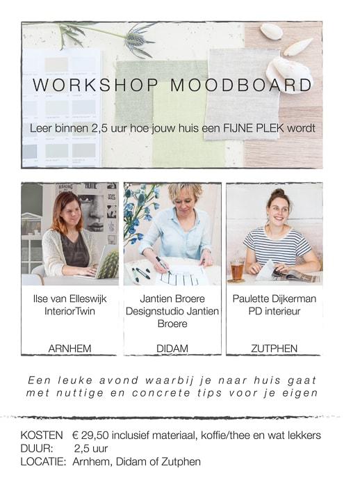 workshop moodboard maken - bepaal je woonstijl