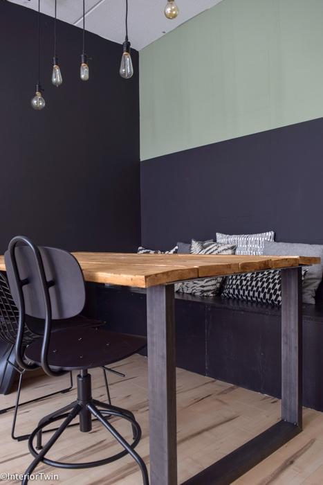 Diy zelf een industri le houten eettafel maken interiortwin for Zelf tafel maken hout