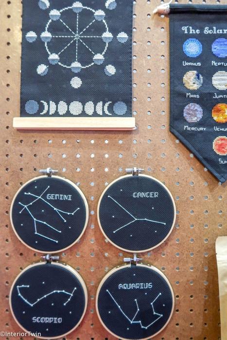 sterrenbeeld op borduurring