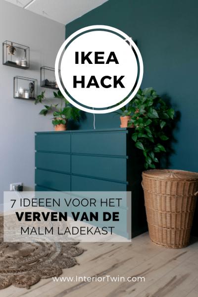 ikea hack: verven van de malm ladekast - schilderen ikea meubel