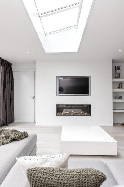 inbouw gashaard en tv scandinavisch interieur @thuisstijl
