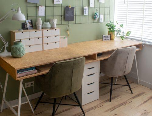 IKEA hack: bureau op schragen