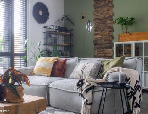 Groen make-over van de woonkamer