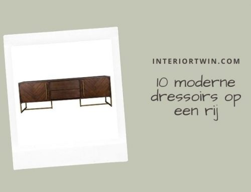 10 x moderne dressoirs in zwart, goud en hout
