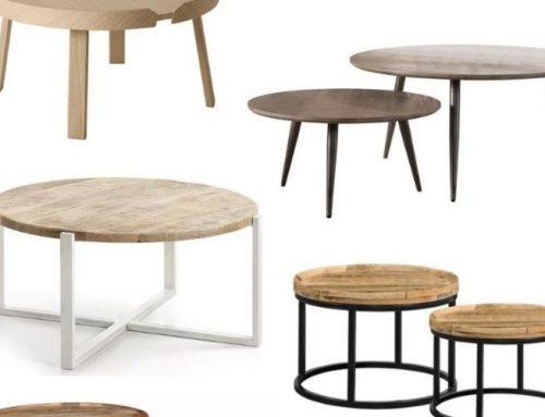 15+ ronde salontafels met een korte levertijd en snel in huis